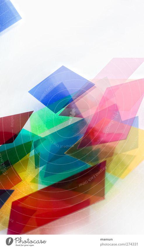 bunt III Farbe modern Design Papier Kreativität Kunststoff abstrakt chaotisch Zettel eckig mehrfarbig Kunststoffverpackung Ornament Rechteck Strukturen & Formen