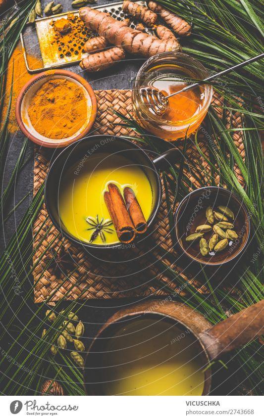 Turmeric Kurkuma Milchgetränk Lebensmittel Getränk Heißgetränk Tee Geschirr Design Gesundheit Gesundheitswesen Alternativmedizin Gesunde Ernährung Winter