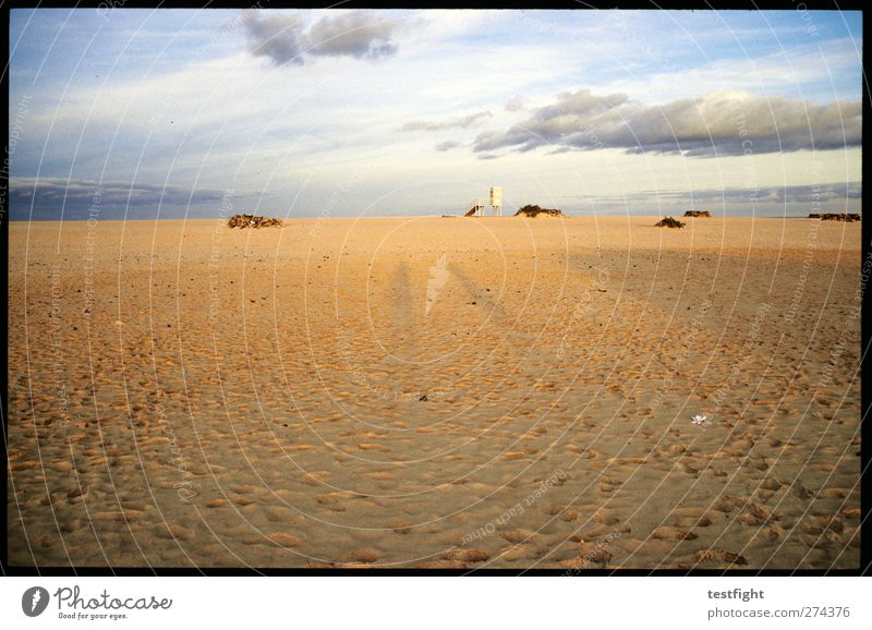 strand Ferien & Urlaub & Reisen Tourismus Strand Natur Landschaft Wolken Sonne ruhig Farbfoto Außenaufnahme Abend Licht Schatten Silhouette Sonnenlicht