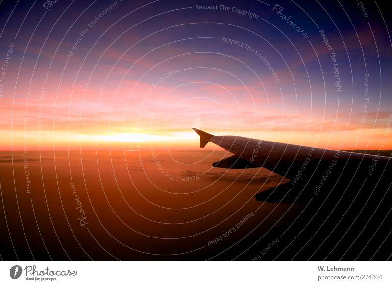 Mum... Natur blau rot Umwelt gelb Gefühle Luft orange Luftverkehr Urelemente Verkehrsmittel