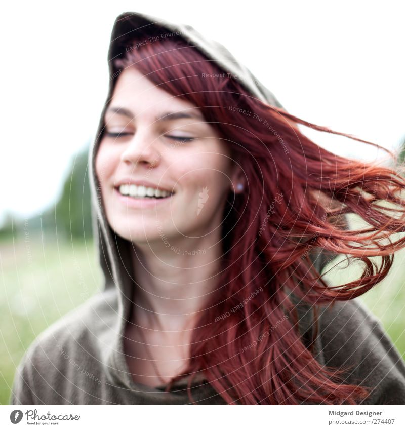Haare | Laura Mensch Jugendliche schön rot Freude Erwachsene feminin Leben Bewegung Haare & Frisuren Junge Frau natürlich 18-30 Jahre Geschwindigkeit gut einzigartig