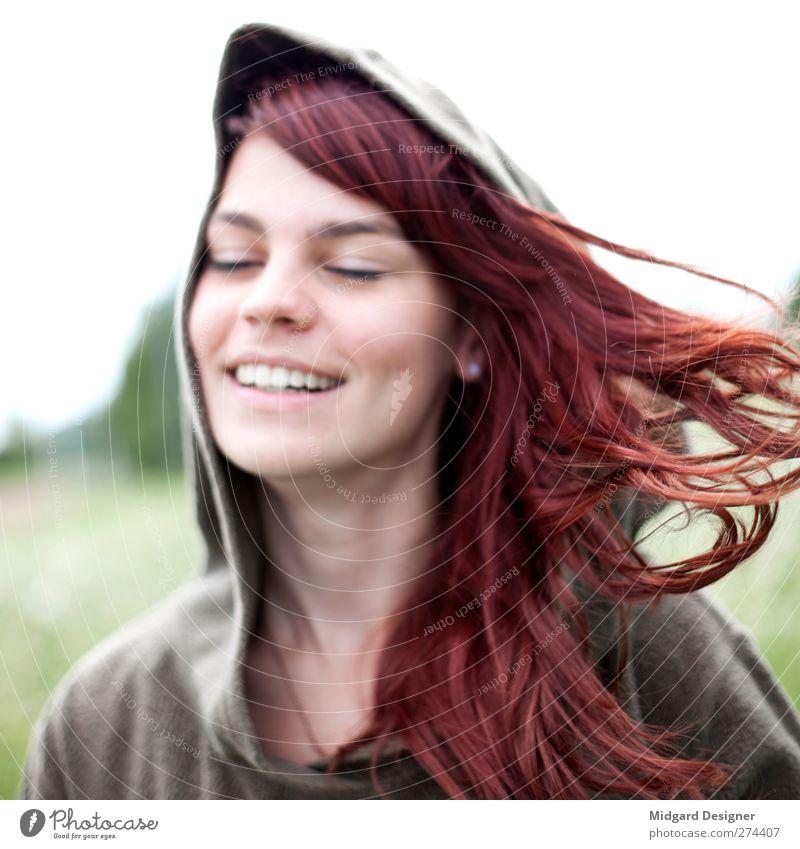 Haare | Laura Mensch Jugendliche schön rot Freude Erwachsene feminin Leben Bewegung Haare & Frisuren Junge Frau natürlich 18-30 Jahre Geschwindigkeit gut