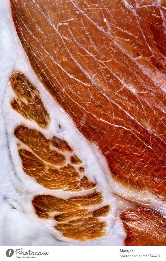 Schinken weiß rot Ernährung Lebensmittel frisch ästhetisch genießen Werbung sportlich Frühstück lecker Duft Fleisch Schwein Wurstwaren Nutztier