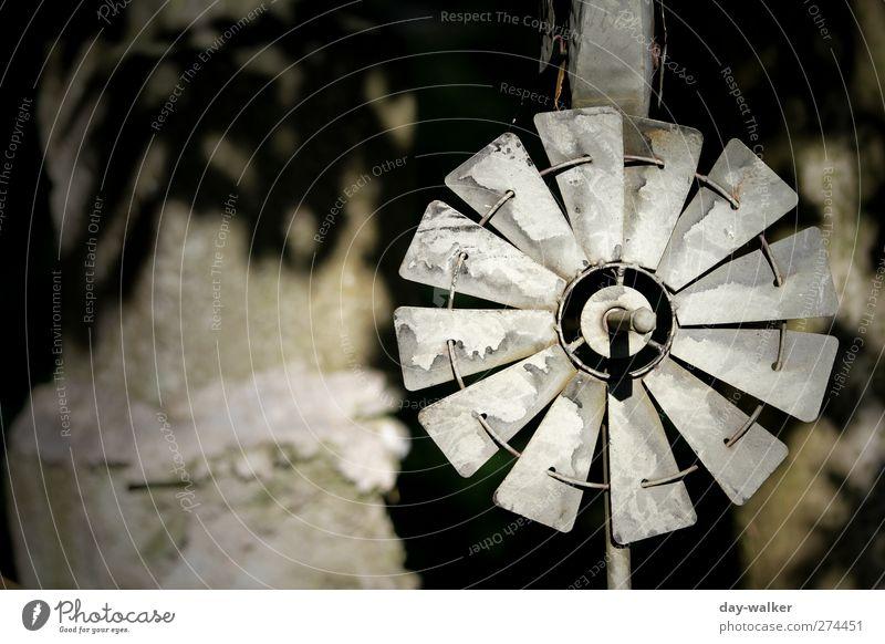 Erneuerbare Energie alt Stein Metall rund Technik & Technologie dünn Windkraftanlage beweglich Windrad High-Tech Rotor
