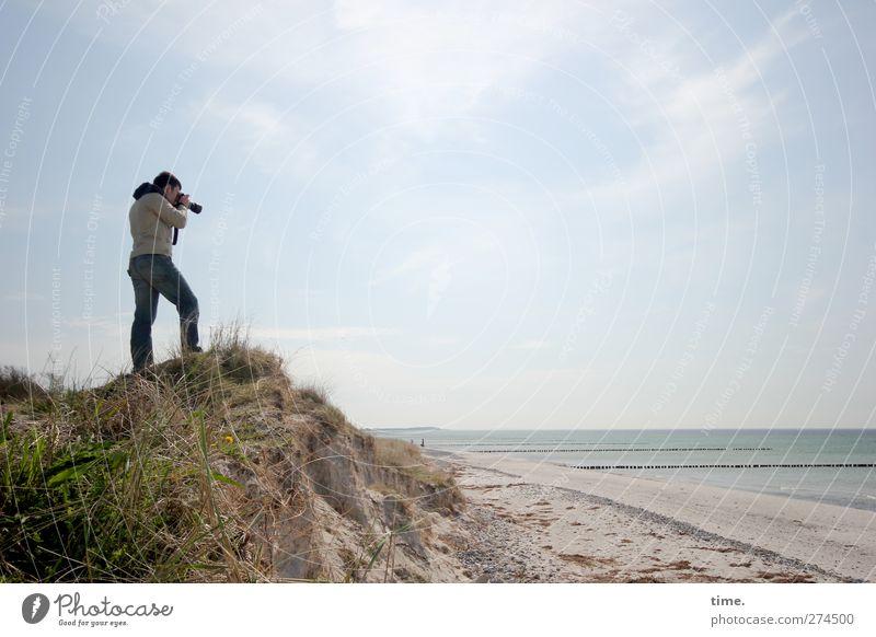 Hiddensee   Room To Shoot Mensch Himmel Natur Wasser Strand Wolken ruhig Erholung Umwelt Ferne Landschaft Frühling Gras Wege & Pfade Freiheit Küste