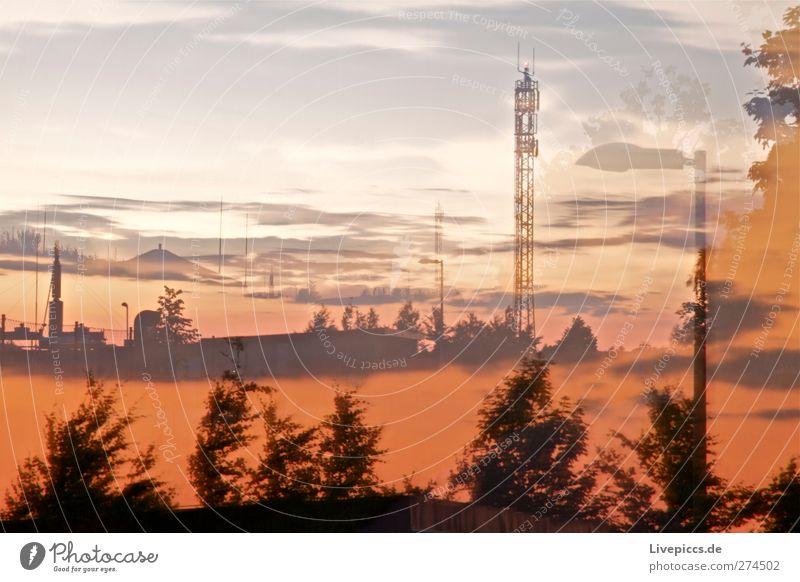 Biogasanlage Arbeitsplatz Technik & Technologie Energiewirtschaft Industrie Landschaft Himmel Wolken Sonne Sonnenaufgang Sonnenuntergang Sonnenlicht Sommer