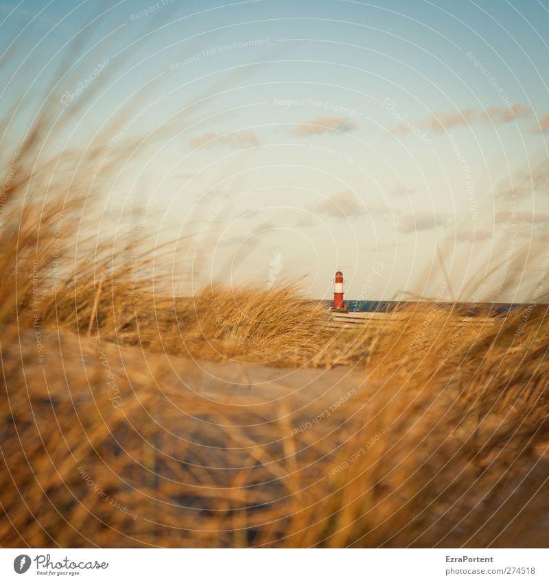 little one (No.2) Himmel blau Ferien & Urlaub & Reisen Sommer rot Sonne Meer Strand ruhig Landschaft gelb Gras Küste Sand Gebäude Horizont