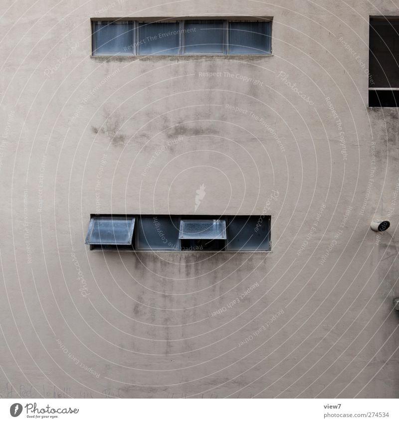 großstadt alt Haus Fenster Wand Architektur Mauer Gebäude braun Fassade dreckig Beginn Beton Wachstum authentisch Hochhaus trist