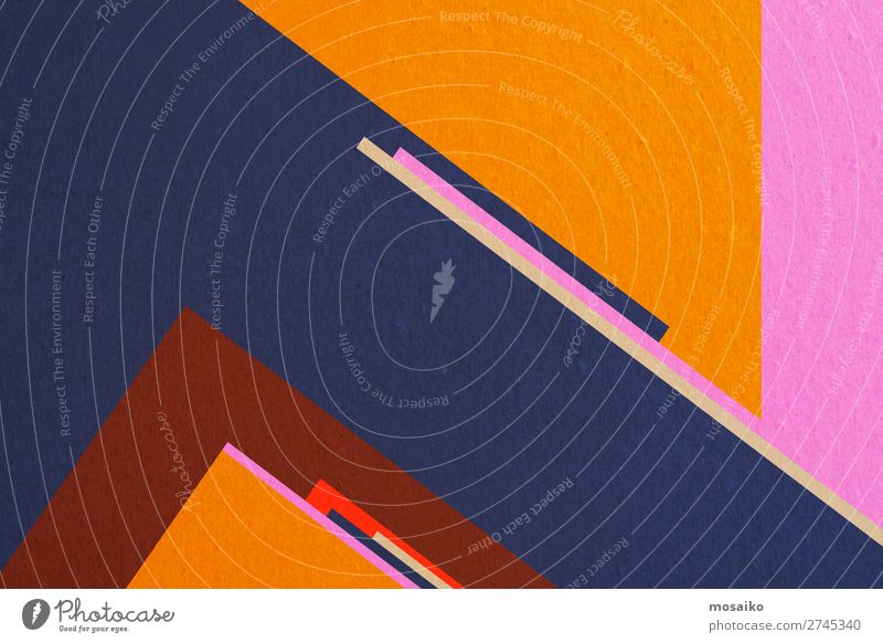 farbenfrohe Papierstruktur - Hintergrundgestaltung Lifestyle elegant Stil Design Dekoration & Verzierung Tapete Entertainment Feste & Feiern dreckig retro gelb