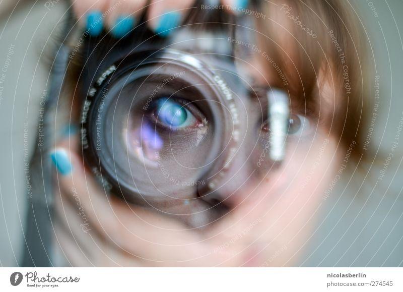 I See Right Through You Mensch Jugendliche Erwachsene Auge feminin Junge Frau Freizeit & Hobby 18-30 Jahre Fotografie verrückt beobachten Fotokamera Kreativität festhalten Unendlichkeit Seele