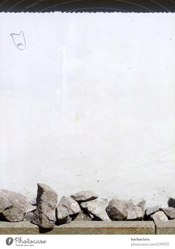 Das Teufelchen an die Wand malen Freude schwarz Straße Graffiti Wege & Pfade grau Mauer Stein hell Fassade Beton ästhetisch Coolness Zeichen zeichnen