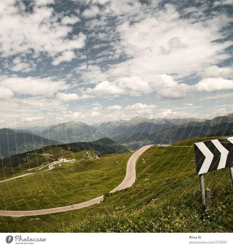Passo di Monte Giovo Ferien & Urlaub & Reisen Ausflug Umwelt Natur Landschaft Himmel Wolken Horizont Sommer Schönes Wetter Wiese Berge u. Gebirge Südtirol