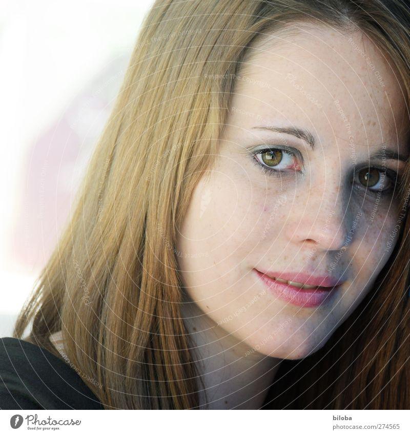 AugenBlick Mensch feminin Junge Frau Jugendliche Erwachsene Gesicht 1 18-30 Jahre Reinheit schön verträumt Außenaufnahme Textfreiraum links