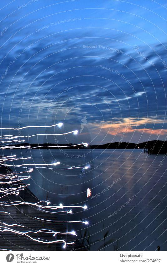 Steino´s Schatten Mensch feminin Frau Erwachsene Körper 1 Kunst Künstler Maler Natur Landschaft Wasser Himmel Wolken Sonnenaufgang Sonnenuntergang Sommer