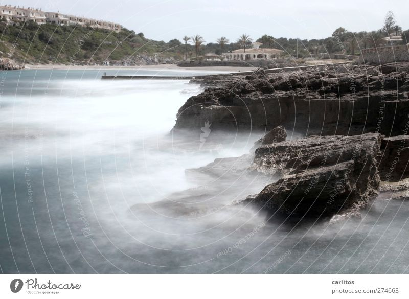 noch mehr Meer Natur blau Wasser Ferien & Urlaub & Reisen weiß Strand Umwelt Bewegung Küste Luft braun Felsen Wellen ästhetisch Urelemente