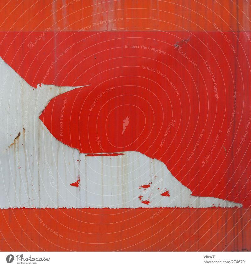 bird alt rot Metall Linie dreckig elegant Ordnung Beginn Design modern frisch authentisch Fröhlichkeit ästhetisch Streifen retro
