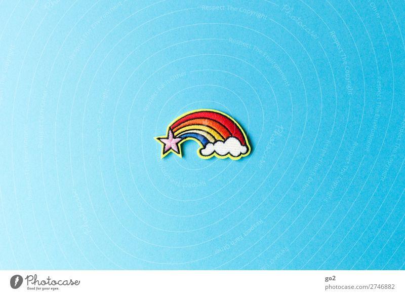 Regenbogen Accessoire Dekoration & Verzierung Stoff Zeichen Gefühle Glück Lebensfreude Sympathie Freundschaft Zusammensein Liebe Romantik Menschlichkeit