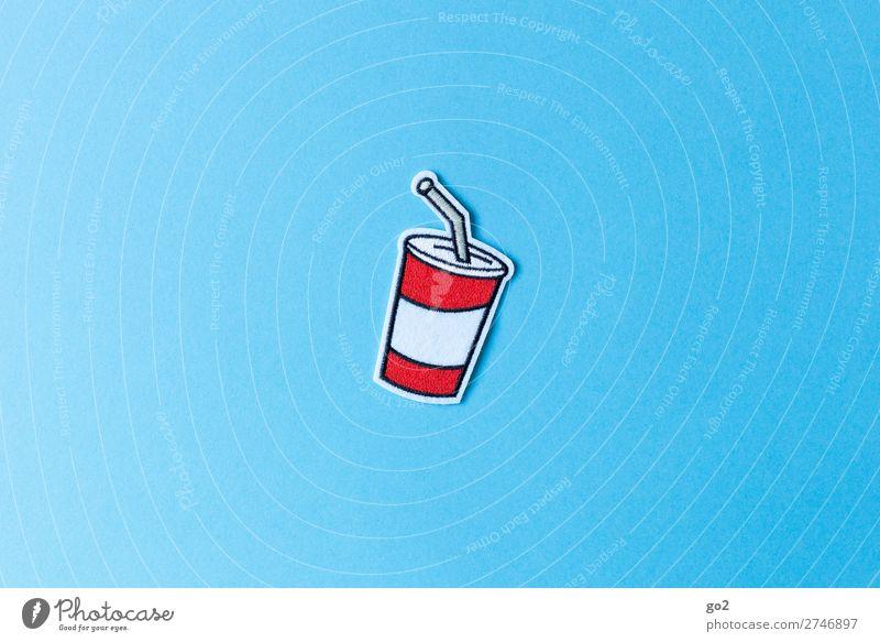 Softdrink Zeichen lecker Getränk trinken Stoff Müll Erfrischungsgetränk Accessoire Becher Trinkhalm Limonade Plastikbecher