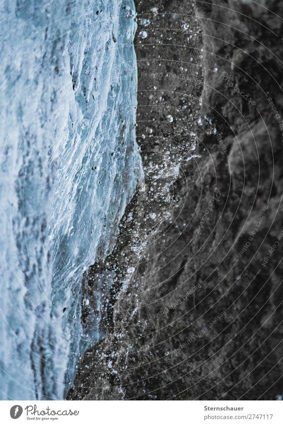 Cold Water Ferien & Urlaub & Reisen Natur blau Wasser weiß Winter Berge u. Gebirge kalt Schnee Bewegung Stein braun frisch Eis Abenteuer Wassertropfen