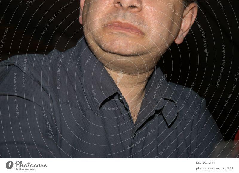 Der Grieche Mann Gesicht Kopf Mund lustig maskulin Nase Ohr Hemd Gesichtsausdruck Hals Hälfte Bekleidung Doppelkinn