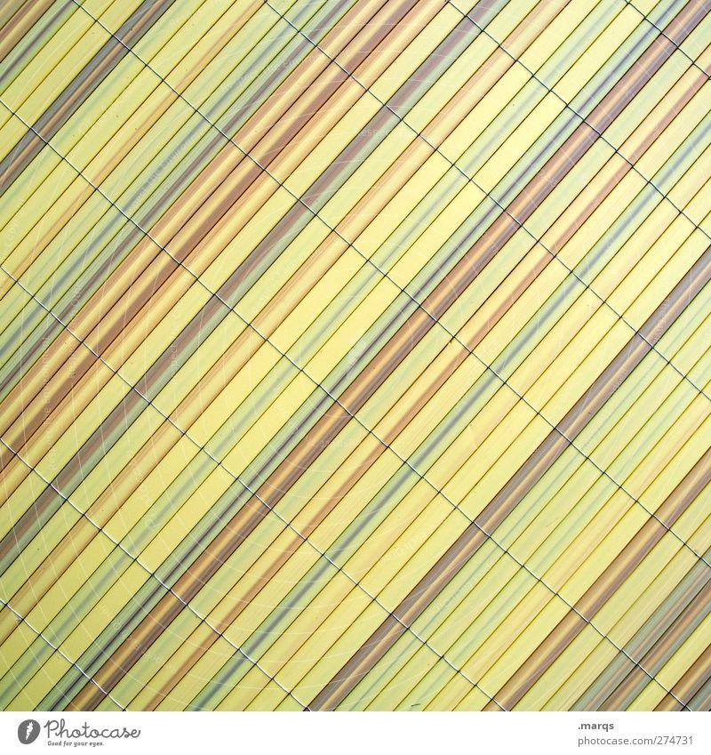 Sichtschutz Lifestyle Design Mauer Wand Linie Streifen einfach trendy modern schön gelb Ordnung Hintergrundbild Farbfoto Gedeckte Farben Nahaufnahme abstrakt
