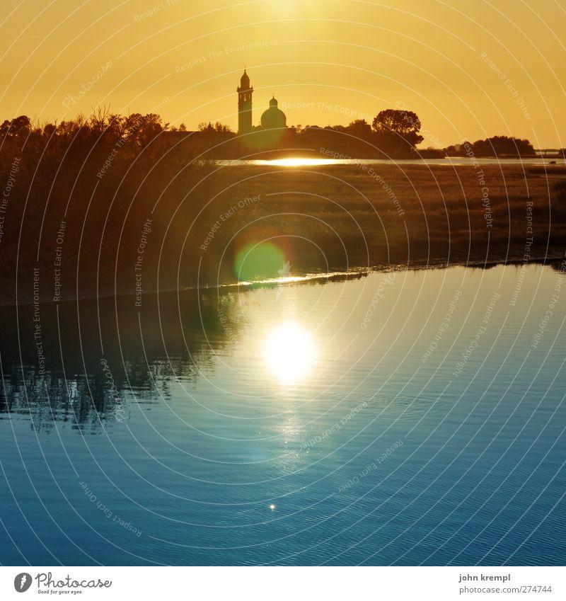 Schland, mein Schland! Natur Ferien & Urlaub & Reisen Stadt blau Sonne Meer Landschaft gelb Wärme Architektur Küste Gebäude Horizont orange Insel Kirche