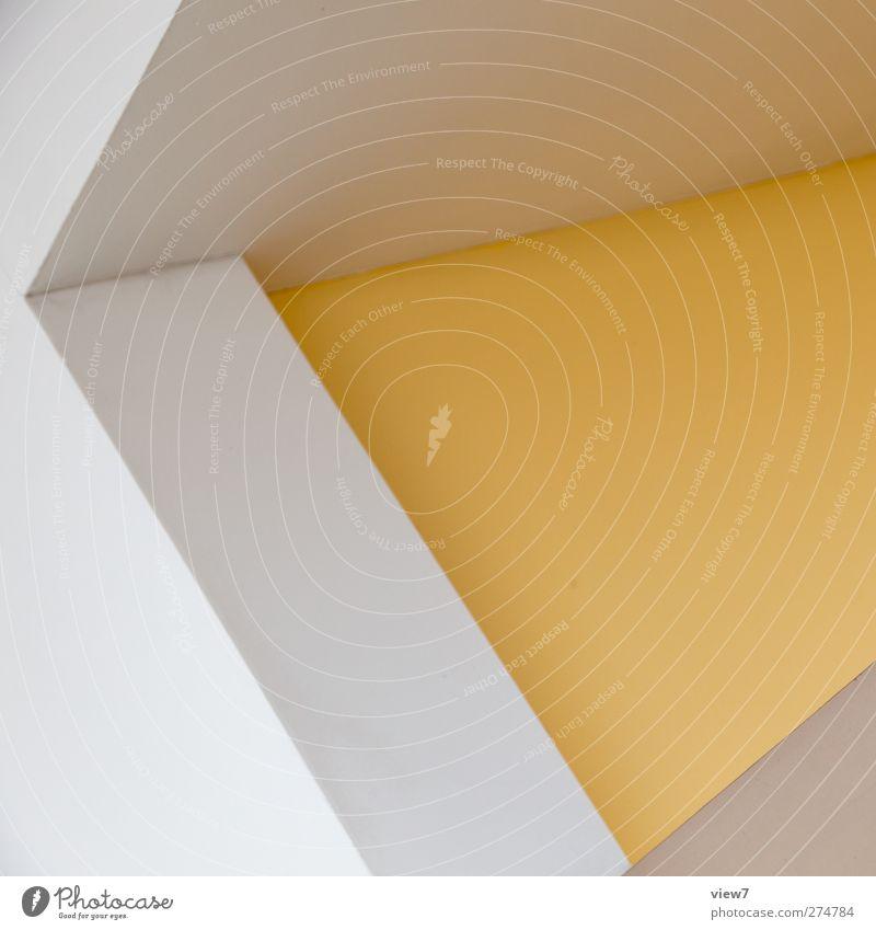 BorderBrush weiß schön Haus gelb Wand Architektur Mauer Stein Gebäude Linie Ordnung elegant Beginn Design Beton modern