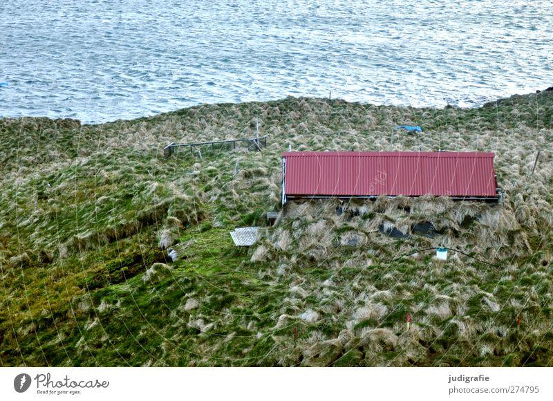 Island Natur Wasser Pflanze ruhig Haus Umwelt Landschaft Wiese Gras Küste Gebäude Wellen Häusliches Leben Dach Idylle Bauwerk