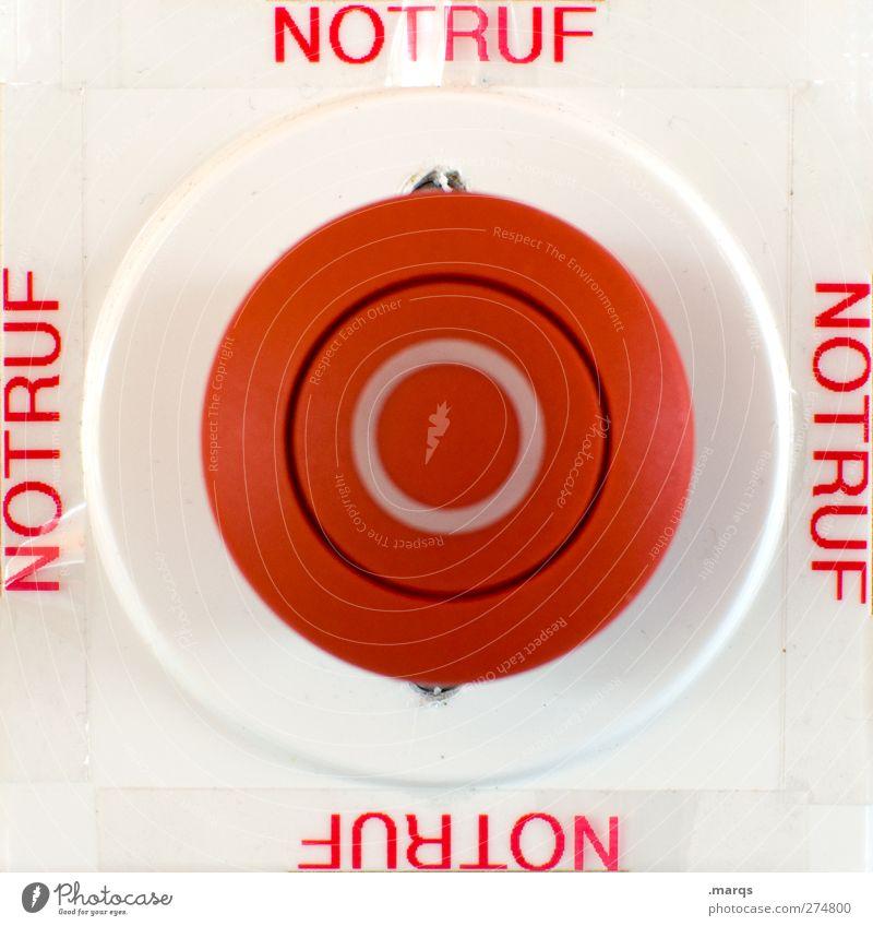 Zur Not Wirtschaft Schalter Technik & Technologie Zeichen Schriftzeichen Hinweisschild Warnschild rot weiß Gefühle bedrohlich Hilfsbereitschaft Kommunizieren