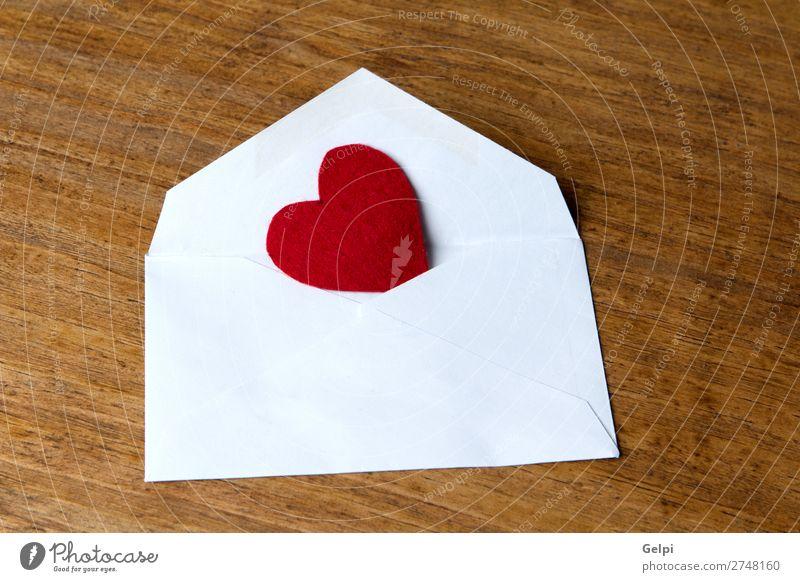 Mailing mit Liebe Design Glück Dekoration & Verzierung Tisch Feste & Feiern Valentinstag Hochzeit Post Papier Holz Herz retro rot weiß Romantik Überraschung