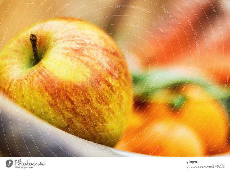 An Apple a Day rot gelb Ernährung Lebensmittel Wärme Gesundheit orange Frucht frisch Apfel Gemüse lecker reif ködern Korb Schalen & Schüsseln