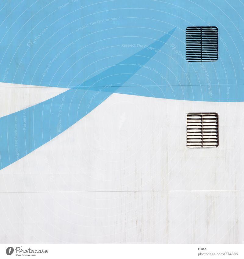 Betriebliche Gesundheitsförderung blau Ferien & Urlaub & Reisen weiß Farbe kalt hell Kunst Ordnung Design ästhetisch Abenteuer planen Coolness Grafik u. Illustration Schifffahrt skurril