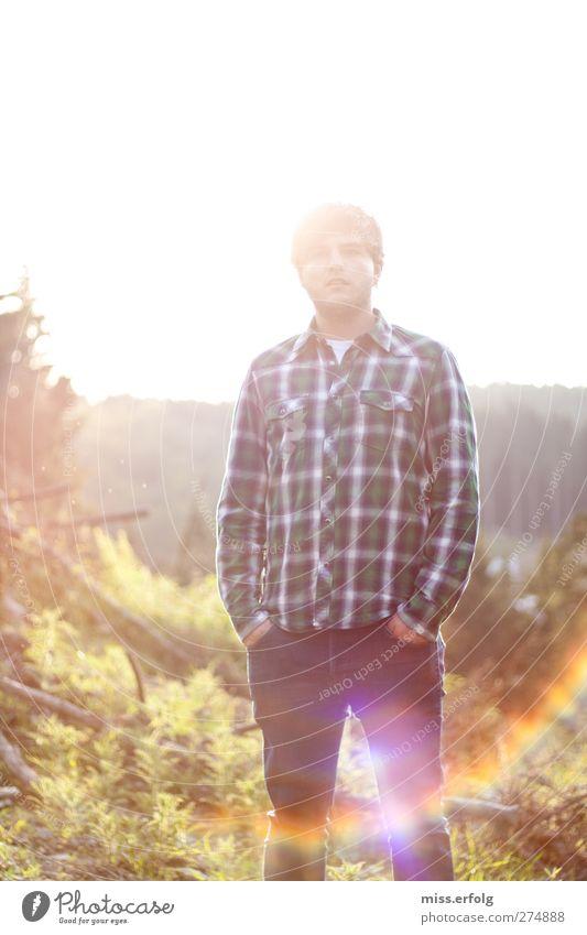 Ein Männlein steht im Walde III Mensch Natur Mann Jugendliche Pflanze Tier Erwachsene Erholung Umwelt Landschaft Glück Junger Mann Körper außergewöhnlich