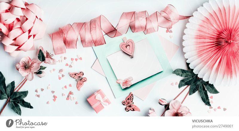 Geschenkkarte mit Herz und pastel rosa Dekoration kaufen Design Freude Party Feste & Feiern Valentinstag Muttertag Ostern Hochzeit Geburtstag Blume