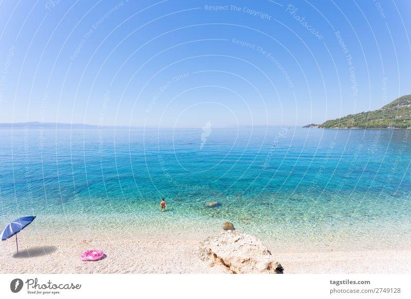 Drasnice, Dalmatia, Croatia, Europe Adria Schwimmen & Baden Bucht Strand ruhig Wolkenloser Himmel Küste Kroatien Dalmatien Horizont Idylle Landschaft schön