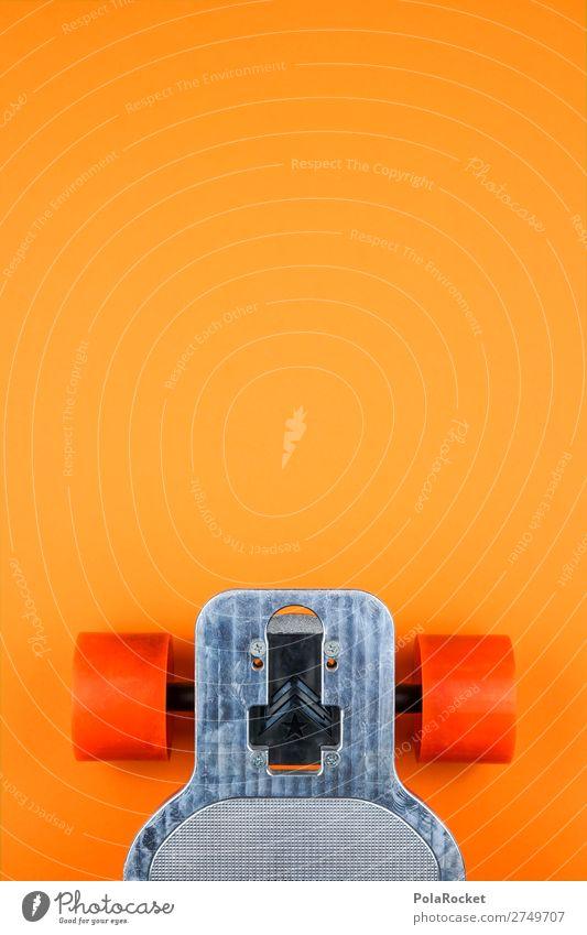 #S# Longboard orange Lifestyle Skateboard Surfen Asphalt Metall außergewöhnlich Coolness rollen Achse genießen Freizeit & Hobby Inline Skating Geschwindigkeit