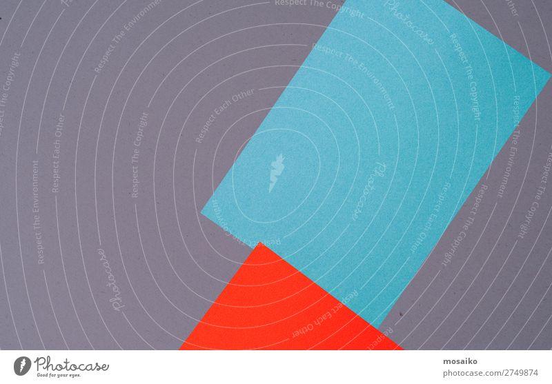 blaues und rotes Papier - Hintergrundgestaltung Stil Design Dekoration & Verzierung Feste & Feiern Valentinstag Bildung Post Business Erfolg Sitzung sprechen