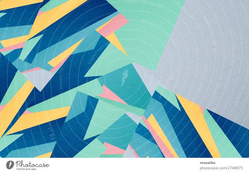colourful paper texture - background design Stil Design Dekoration & Verzierung Tapete Handwerk Papier alt bauen dreckig retro blau ästhetisch Zufriedenheit
