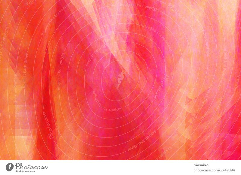 Farbspiel Rot, Pink, Gelb, Orange Lifestyle elegant Stil Design Freude Wellness Leben harmonisch Feste & Feiern Valentinstag Muttertag Kunst Maler genießen