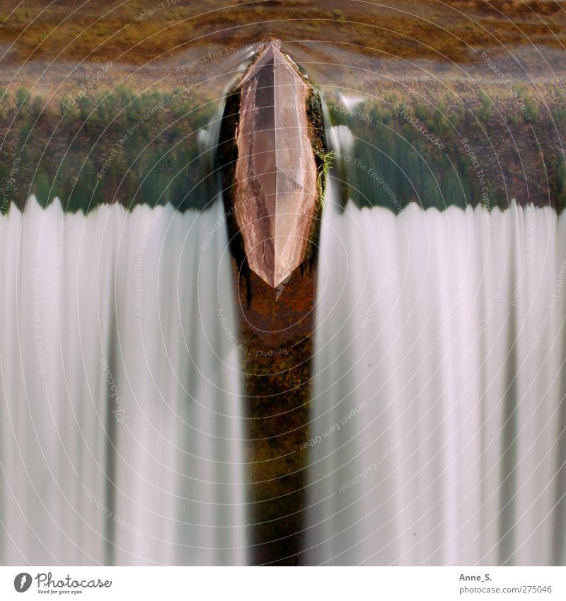Stilles Rauschen Wasser grau Stein braun orange Zufriedenheit Kraft frisch Abenteuer Macht Spitze weich Brunnen Flüssigkeit mystisch Gegenteil