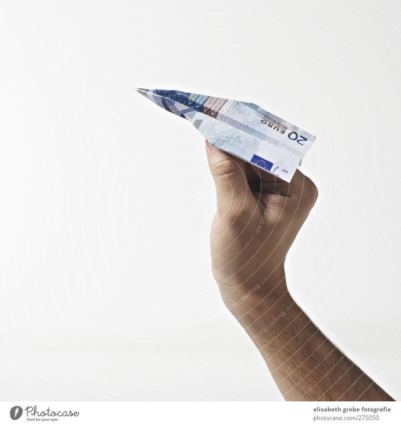 Flieger Ferien & Urlaub & Reisen Hand Ferne Bewegung Freiheit fliegen maskulin Erfolg Tourismus Flugzeug Luftverkehr Zukunft Lifestyle Geld Sicherheit