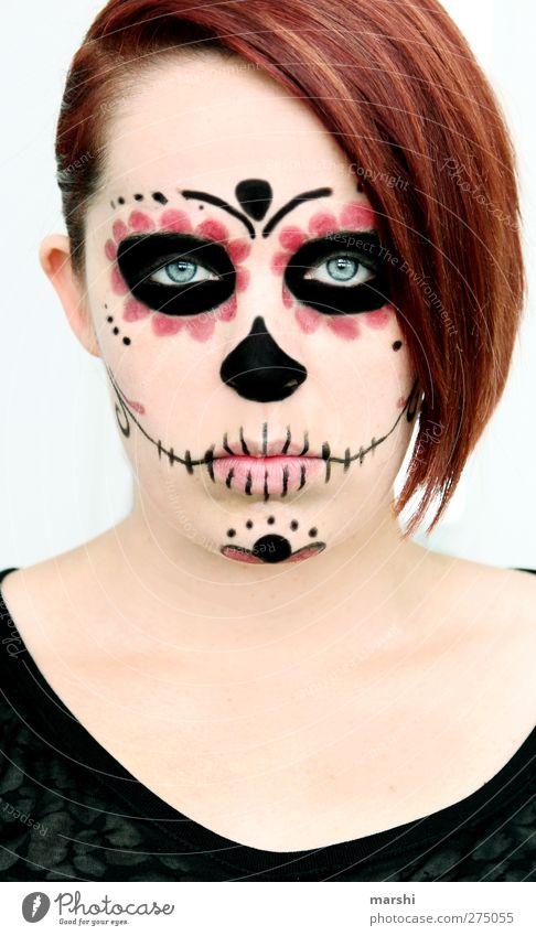 dem Jenseits nahe Mensch feminin Junge Frau Jugendliche Erwachsene Haut Gesicht 1 Gefühle Stimmung Schädel Mexiko Tod nahtoderfahrung Schminke geschminkt