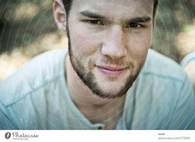 Netter Typ Mensch Mann Jugendliche schön Erwachsene Gesicht Stil Junger Mann maskulin authentisch Lifestyle Coolness Model Bart ernst Anschnitt