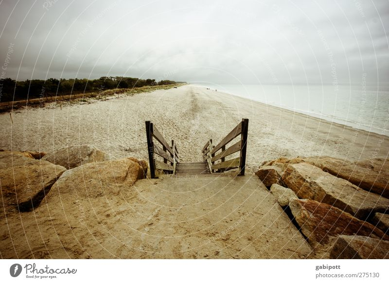 mal runter zum strand geh´n Erholung ruhig Ferien & Urlaub & Reisen Tourismus Ferne Sommer Sommerurlaub Meer Natur Landschaft Urelemente Himmel Wolken