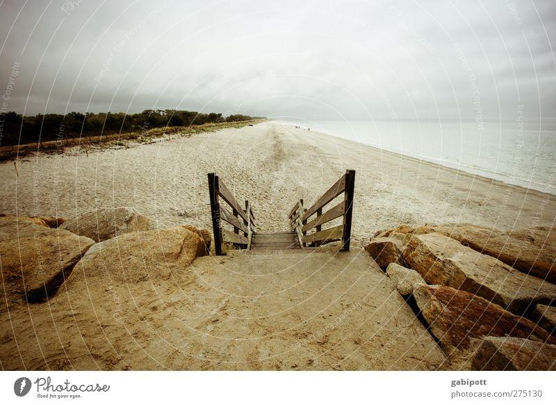 mal runter zum strand geh´n Himmel Natur Ferien & Urlaub & Reisen Sommer Meer Einsamkeit Landschaft Wolken ruhig Strand Erholung Ferne Herbst Wege & Pfade Küste
