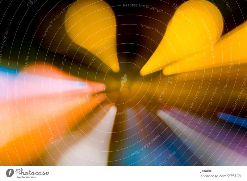 abgespaced I blau schön Farbe dunkel Bewegung Stil hell Linie Feste & Feiern Kunst Stimmung orange außergewöhnlich glänzend elegant Design