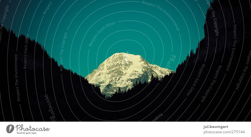 Ziel in Sicht Himmel Natur Ferien & Urlaub & Reisen Erholung Umwelt Landschaft Berge u. Gebirge Schnee Felsen wandern Tourismus Ausflug Abenteuer Alpen Gipfel