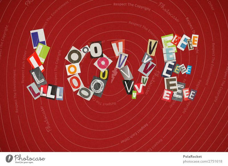 #A# LLOVE rot Liebe Kunst Design ästhetisch Buchstaben viele Liebespaar Typographie Kunstwerk gebastelt Liebeskummer Liebeserklärung Liebesbrief Liebesbekundung