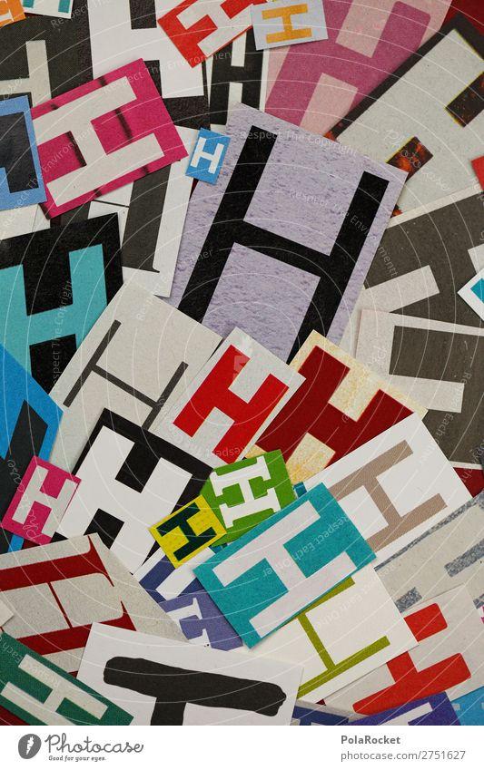 #A# HHHHH Kunst Kunstwerk ästhetisch viele Typographie Buchstaben Buchstabensuppe Schriftzeichen Farbfoto mehrfarbig Innenaufnahme Studioaufnahme Nahaufnahme