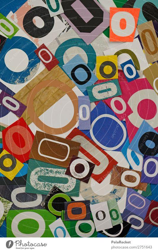 #A# OOOOO Kunst Kunstwerk ästhetisch o Buchstaben Buchstabensuppe viele Kreativität mehrfarbig Design rund Sprache stylen Farbfoto Innenaufnahme Studioaufnahme